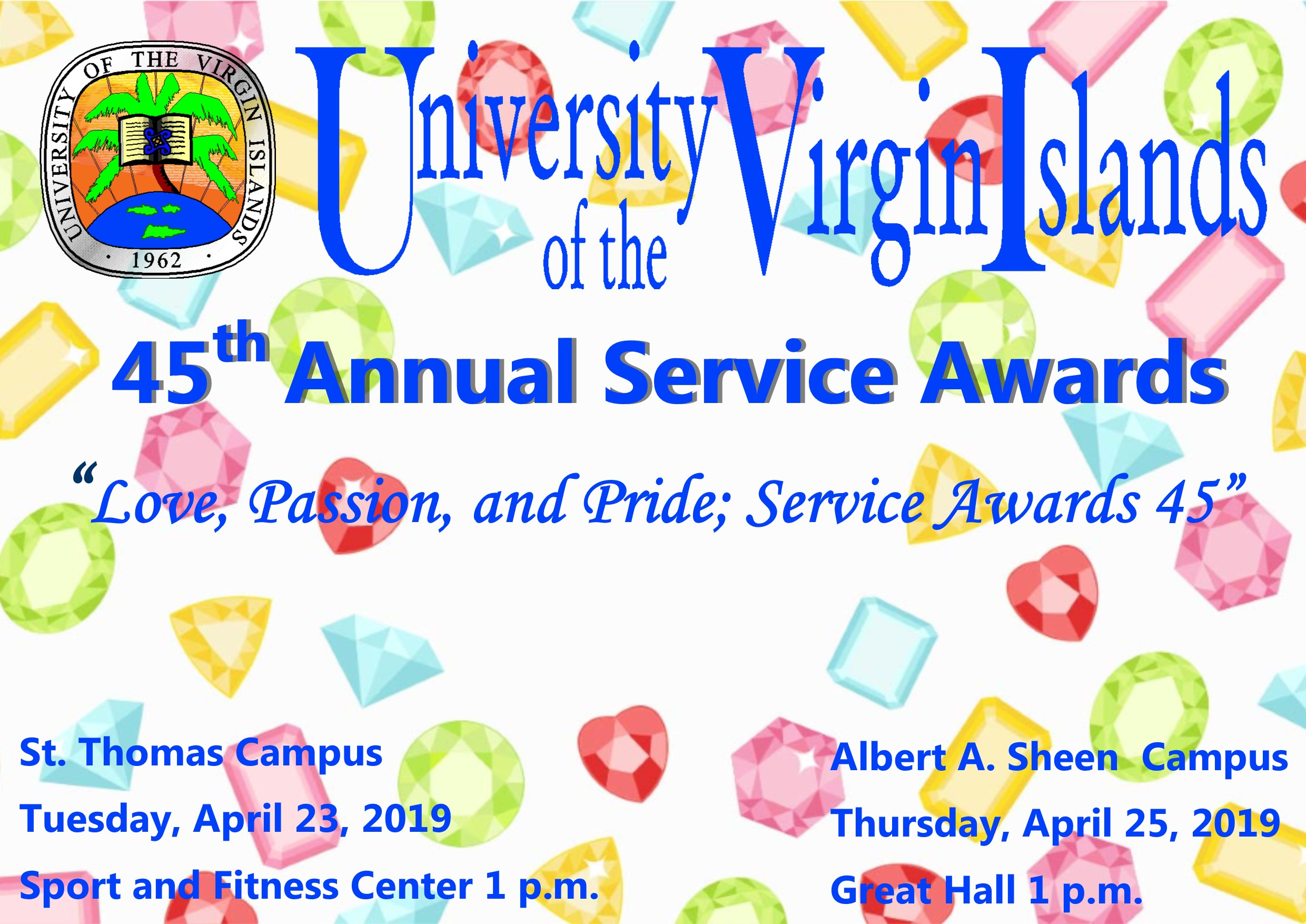 Service Awards announcement