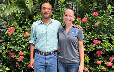 Photo of Professors Gregory Guannel and Kristin Grimes