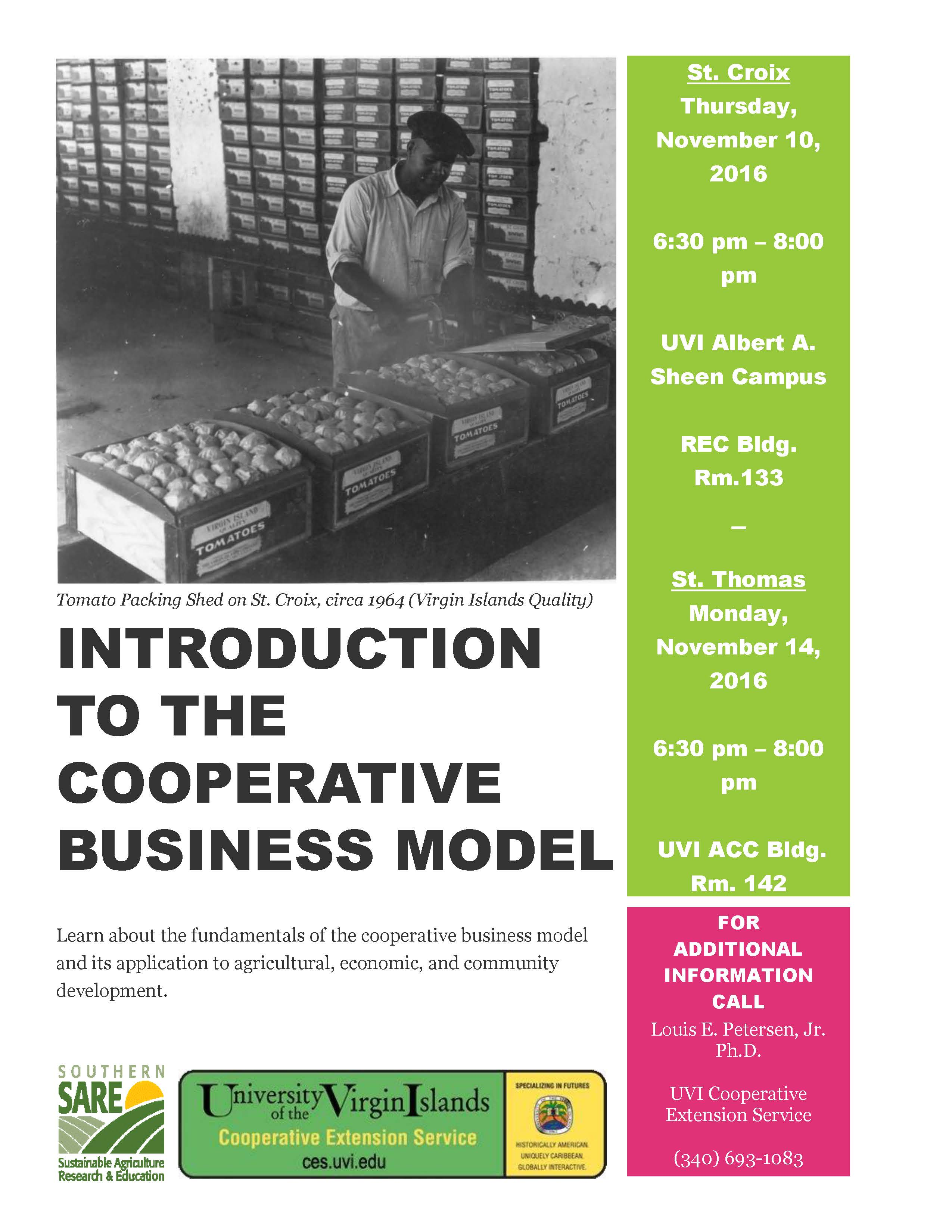 Intro to Cooperatives 6 PM TODAY