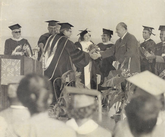 First CVI Commencement with Mrs. Lyndon B. Johnson as speaker
