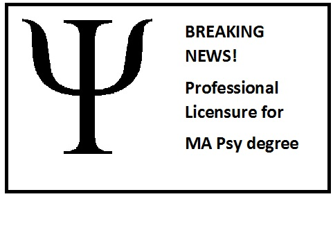Licensure for MA Psy
