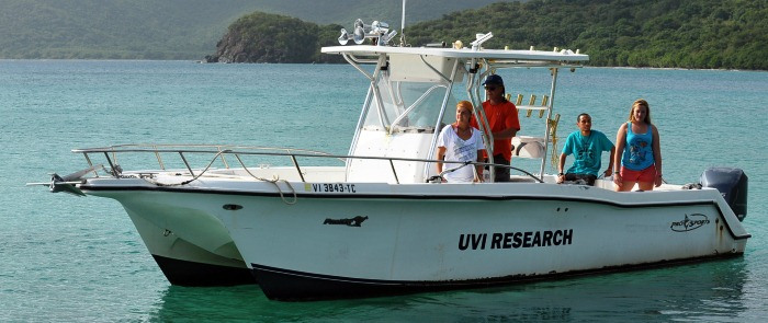 MMES graduate students using the program's research boats