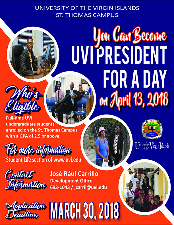 UVI President for a Day poster