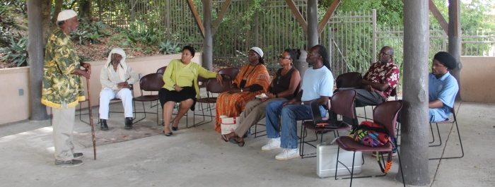 Dr. Etherero Akinshegun opens a CSAP Gathering on St. Croix