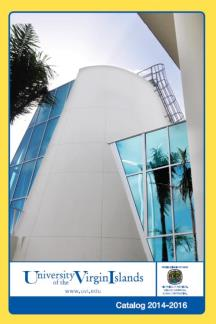 2014-2016 Undergraduate Catalog - cover includes view of the UVI Research and Technology Park