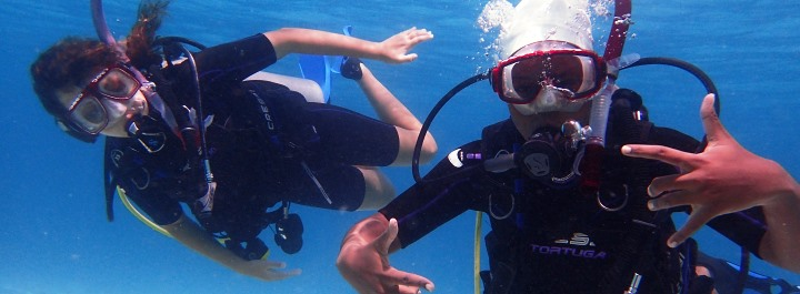 Students can explore the underwater world through SCUBA.