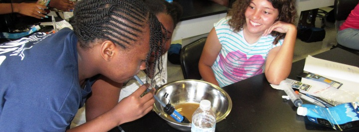 Students engage in activities to learn about clean water.