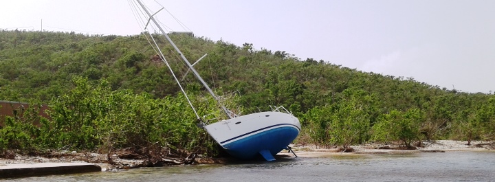 Abandoned vessels can become navigational hazards.