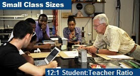 Small Class Sizes - 11:1 Student:Teacher Ratio