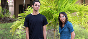 UVI students Lizbeth Carrasquillo and Ryan Shaw will attend classes this Fall on UVI Albert Sheen Campus on Saint Croix