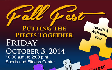 Fall Fest set for October 3, 2014 from 10 am to 2 pm