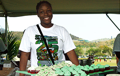 Brianna Hairston received the People's Choice award for her 25th Anniversary Cupcakes at Afternoon on the Green 2014