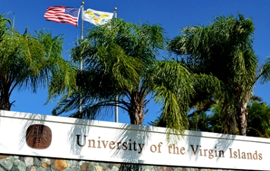 UVI St. Thomas Campus entrance