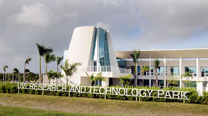 UVI's College of Science and Mathematics on St. Croix is located in the new Research and Technology Park Building.