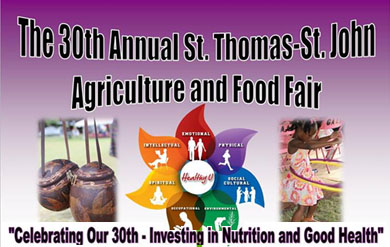 Flyer for STT-STJ Ag and Food Fair 2013