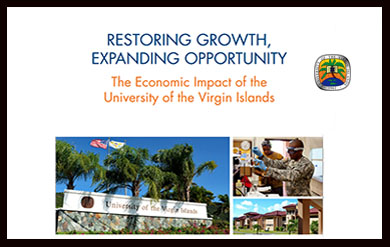 University of the Virgin Islands economic impact report front page