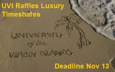 UVI raffles luxury timeshares on St. Thomas to raise scholarship dollars.