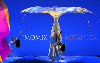 Momix presents Botanica to perform at the Reichhold Center for the Arts.