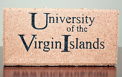 Sample brick from the UVI Buy A Brick Program.