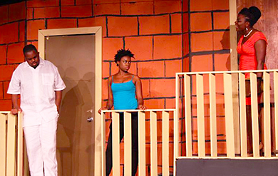 A scene from the UVI play Heaven