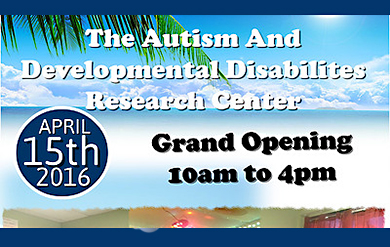 UVI Autism and Developmental Disabilities Center Research Center flyer