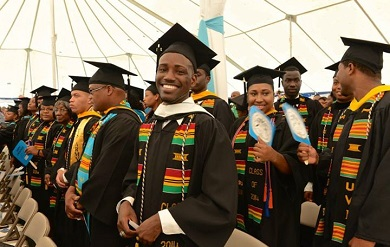 Graduation Ceremony on the Albert A. Sheen Campus on St. croix