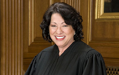 The Honorable Sonia Sotomayor, United States Supreme Court justice