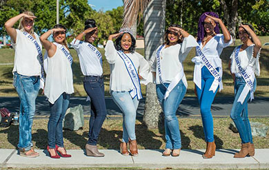 Contestants for 2017 Miss UVI Ambassadorial Competition