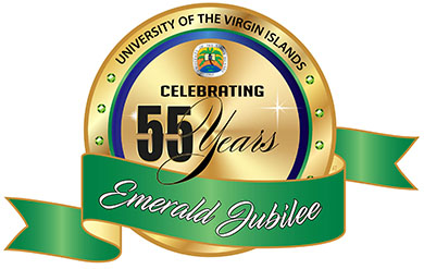 UVI Logo for 55th Year Anniversary