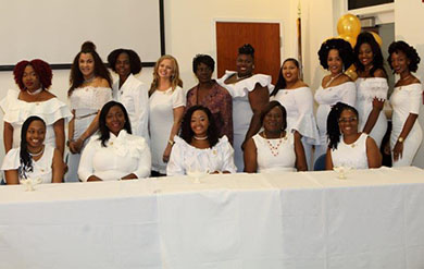 Nursing Students Gather for their Rite of Passage Induction and Pinning Ceremony.