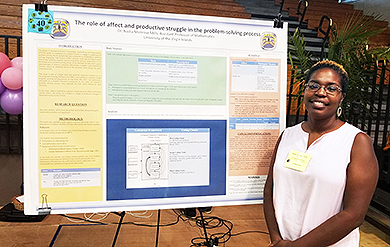 Photo of Nadia Monrose Mills, UVI Assistant Professor of Mathematics