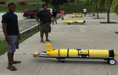 Ocean Gliders are Displayed by Students at the University of the Virgin Islands on the St. Thomas Campus
