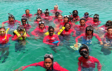 Students Gather for Snorkeling with the Youth Ocean Explorers Program