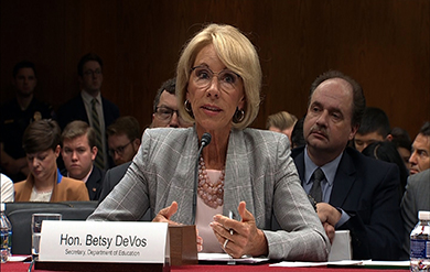 betsy devos secretary of the department of education