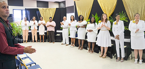 Nursing Students gather at their Pinning Ceremony as Practical Nurses.