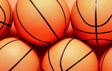 graphic image of basketballs