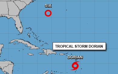 nhc graphic of tropical storm dorian