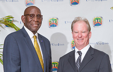 UVI's President David Hall and Richard Berry, President of TOPA Equities VI